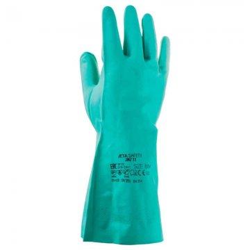 Химические нитриловые перчатки JN711