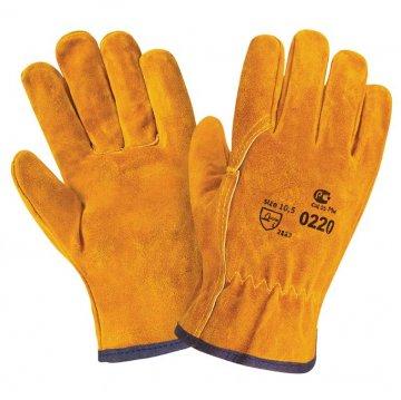 Перчатки цельноспилковые желтые DRIVER
